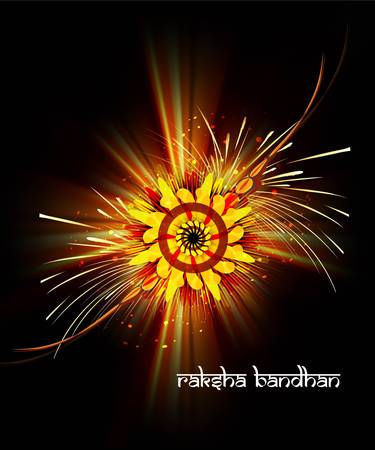 bahan: Beautiful rakhi Indian festival background  Illustration