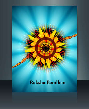 Celebration Raksha Bandhan festival colorful  Brochure reflection Vector