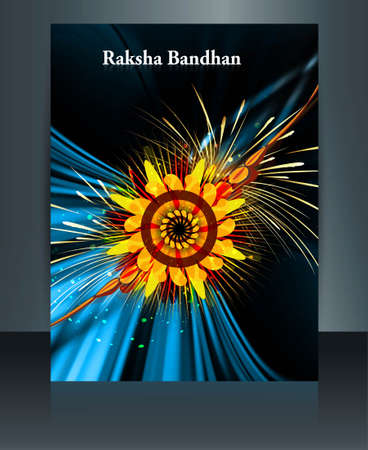 bahan: Raksha Bandhan colorful template festival