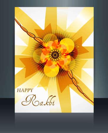 raksha: Festival Raksha Bandhan opuscolo modello colorato illustrazione