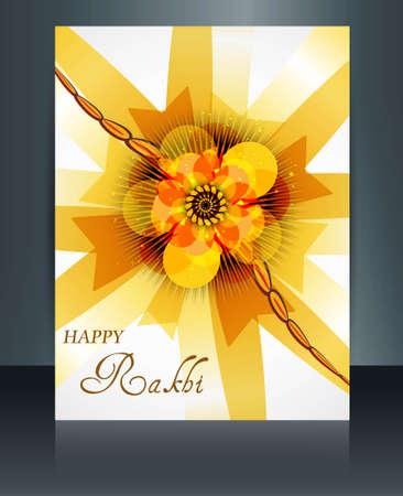 Festival Raksha Bandhan template brochure colorful illustration Vector