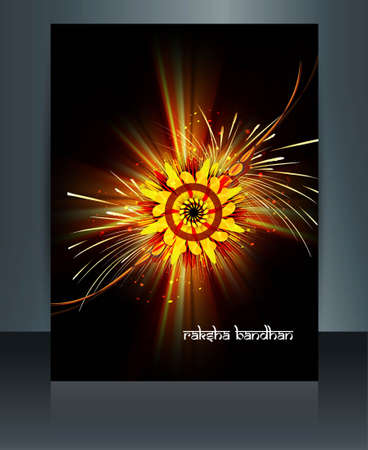 Template Beautiful Raksha Bandhan brochure reflection  Vector