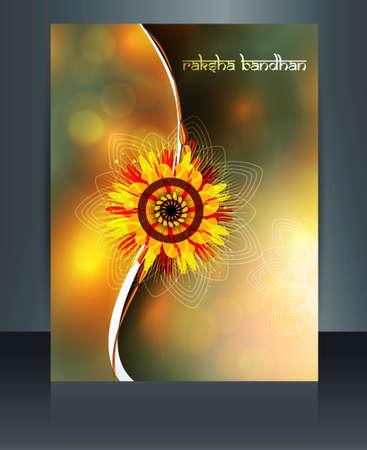 raksha: Bella modello celebrazione colorful Raksha Bandhan festival di illustrazione