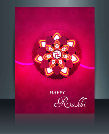 Fantastic colorful Celebration Raksha Bandhan festival design illustration  Vector