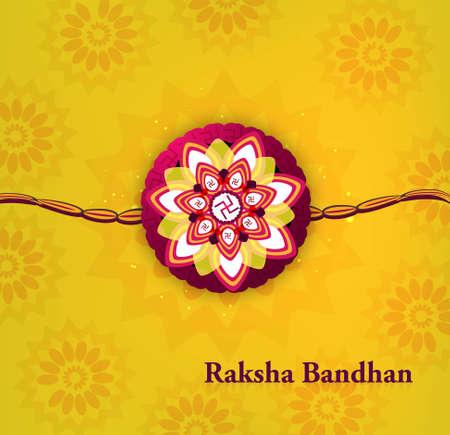 bahan: Beautiful raksha bandhan bright colorful background