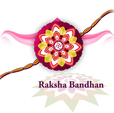 bahan: Stylish raksha bandhan hindu festival bright colorful background