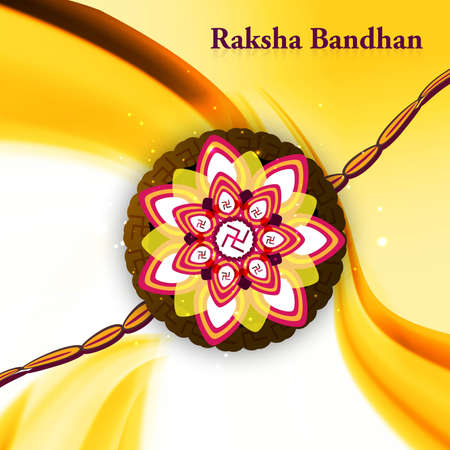 bahan: Stylish wave raksha bandhan hindu festival colorful design Illustration