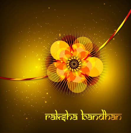 bahan: Beautiful raksh bandhan card hindu festival background  Illustration
