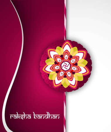 bahan: Fantastic raksha bandhan card bright colorful wave background