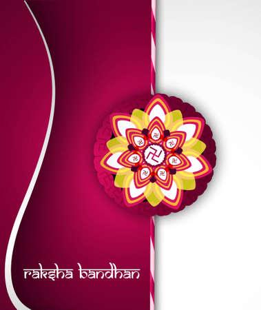 bahan: Fantastic raksha bandhan card bright colorful wave background