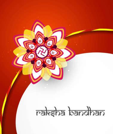 Raksha bandhan festival creative colorful background  Vector