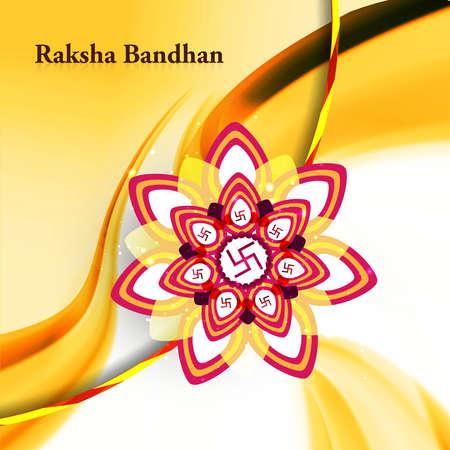 raksha: Raksha Bandhan colorful rakhi background wave illustration