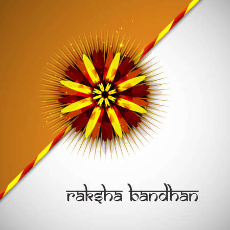 bahan: Rakshabandhan beautiful colorful card indian hindu festival design Illustration