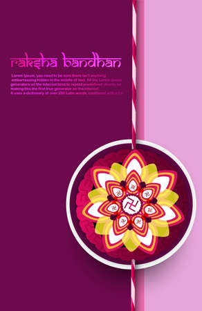 bahan: Fantastic raksha bandhan card bright colorful background