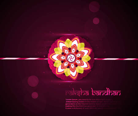 bahan: Beautiful shiny colorful Raksha bandhan festival background