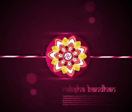 raksha: Beautiful shiny colorful Raksha bandhan festival background