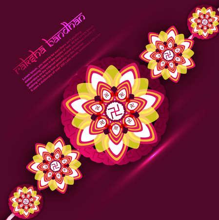 Beautiful Raksha bandhan festival rakhi background Vector