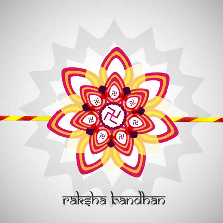 bahan: illustration of beautiful Raksha bandhan card festival background