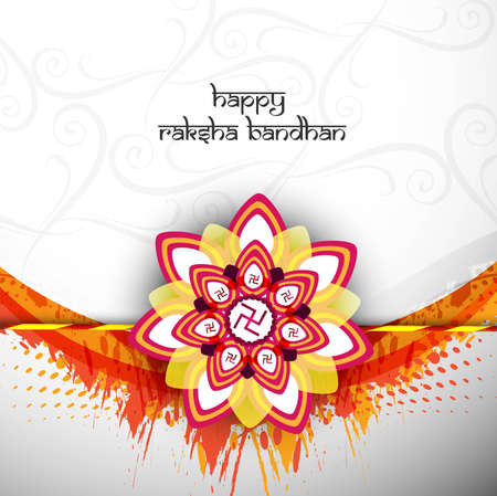 bahan: illustration of card beautiful Raksha bandhan festival background