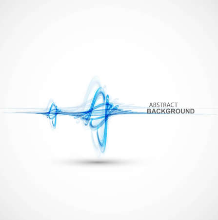technologie: abstract stylish blue colorful line wave technology  background Illustration
