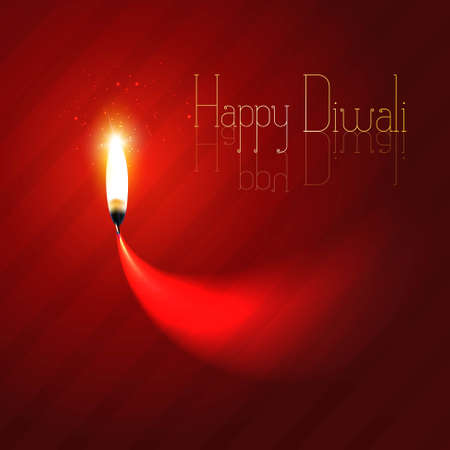 Happy diwali diya celebration design colorful background
