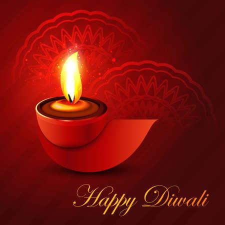 Beautiful shiny happy diwali diya colorful hindu festival background illustration Stock Vector - 22074226
