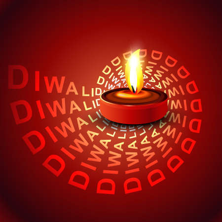 Stylish glowing colorful diwali beautiful diya background vector Vector
