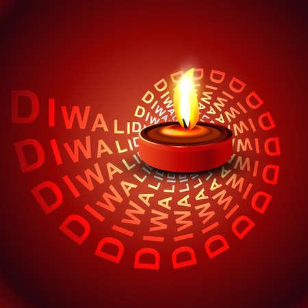 Stylish glowing colorful diwali beautiful diya background vector