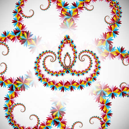 Beautiful artistic with floral colorful decoration for diwali festival celebration vector illustration Vector