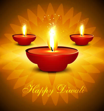 Artistic hindu diwali bright colorful festival vector background illustration  Vector