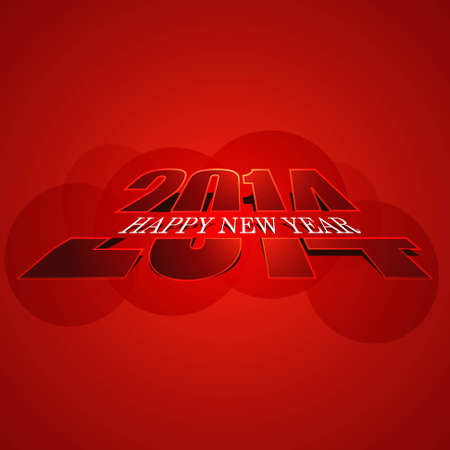 Beautiful stylish shiny 2014 celebration Happy New Year card  Vector