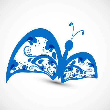 tatto: Artistic styles blue colorful butterfly tatto art