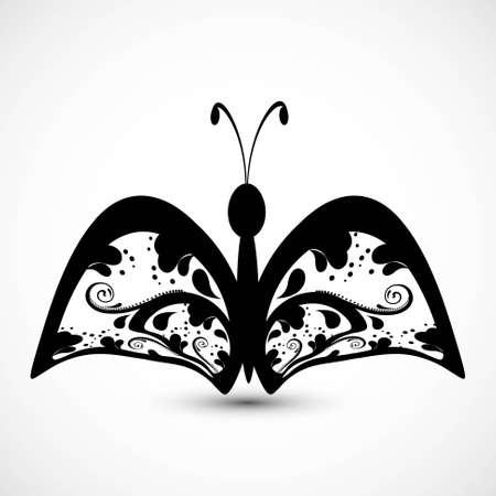 tatouage art: Le tatouage de papillon art de styles artistiques Illustration