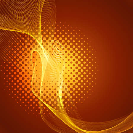 technologie: Abstract smooth line wave colorful background vector