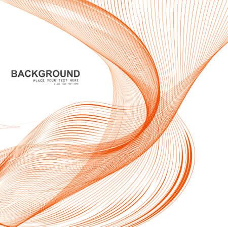 technologie: Stylish line colorful blend wave vector illustration