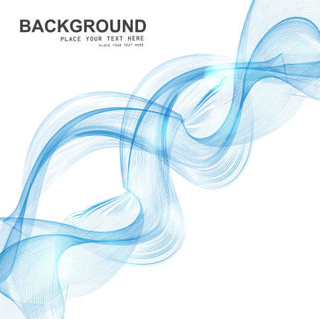technologie: Abstract Set of blend blue colorful line smoke wave vector