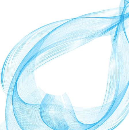 technologie: abstract blue business line smoke wave vector design illustration