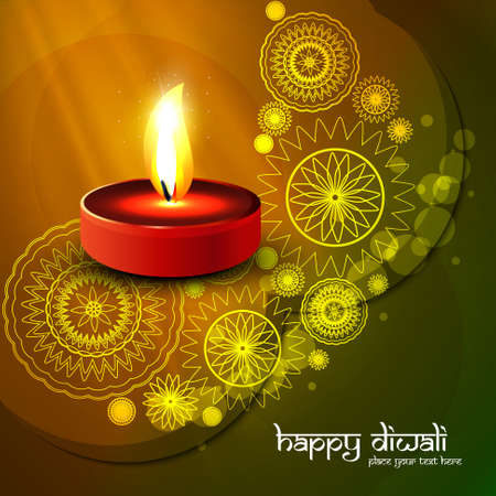 Beautiful diwali colorful art background vector illustration