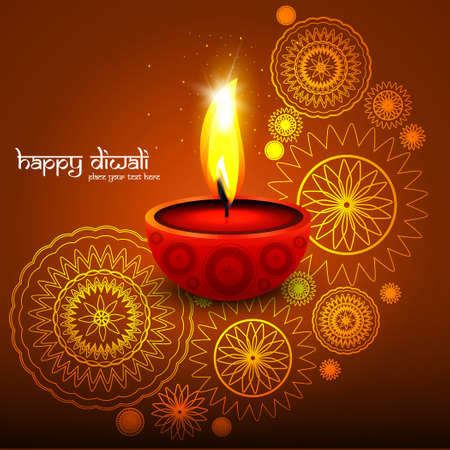 Diwali background colorful design vector illustration Vector