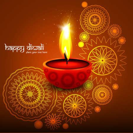 Diwali background colorful design vector illustration Illustration