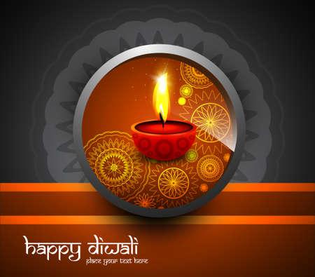 Beautiful religious background design for diwali festival vector