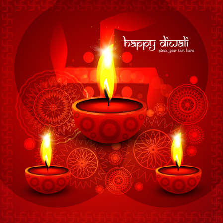 Beautiful illustration for happy deepavali bright colorful design vector Illustration