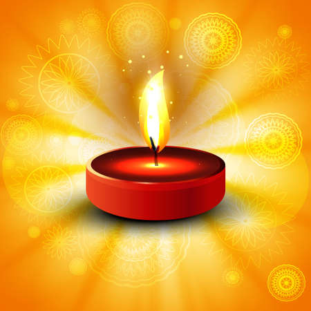 Beautiful diwali bright colorful diya of indian festival vector illustration Vector