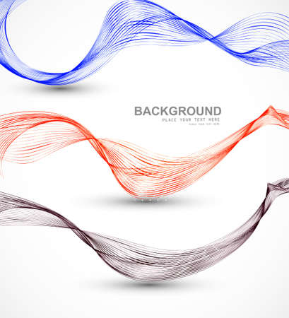 technologie: Abstract different business line wire wave vector whit background