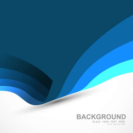 technologie: Beautiful blue business colorful wave vector design Illustration