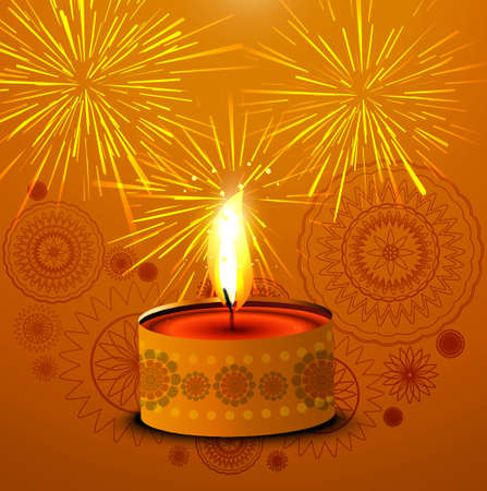Bright colorful stylish creative diwali diya vector design Vector