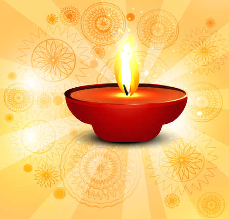 Beautiful background for diwali lamp vector illustration Vector
