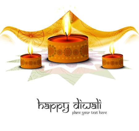 Happy diwali beautiful festival greeting card illustration vector