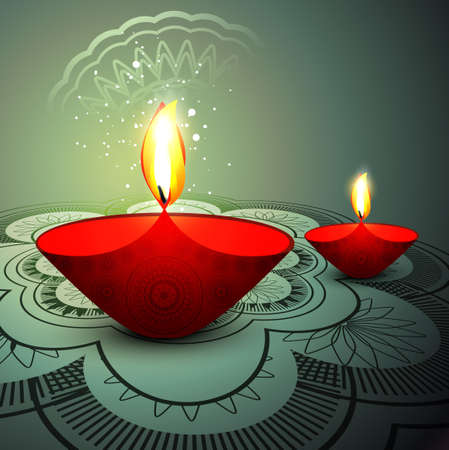 Deepawali festival colorful background vector Vector