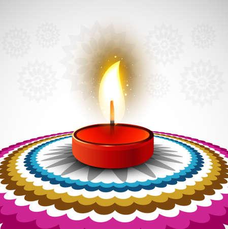 rangoli: Beautiful Happy diwali colorful rangoli design